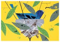 Charley Harper: Indigo Bunting Birthday Card Cover Image