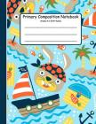 Primary Composition Notebook: Primary Composition Books K-2. Picture Space And Dashed Midline, Primary Composition Notebook, Composition Notebook fo Cover Image
