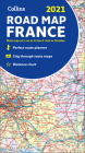 2021 Collins Road Map France Cover Image