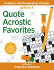 Quote Acrostic Favorites: Features 50 Rewarding Puzzles Cover Image