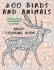 Zoo Birds and Animals - Adult Coloring Book - Elephant, Llama, Lizard, Bobcat, and more Cover Image