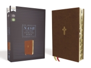 Nasb, Thinline Bible, Leathersoft, Brown, Red Letter Edition, 1995 Text, Thumb Indexed, Comfort Print Cover Image