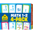 Math 1-2 Flash Card 4-Pack (Flash Cards) Cover Image