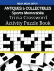 ANTIQUES & COLLECTIBLES Sports Memorabilia Trivia Crossword Activity Puzzle Book Cover Image