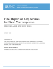 Final Report on City Services for Fiscal Year 2019-2020: Performance and Cost Data Cover Image