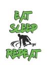 Eat Sleep Repeat: Notizbuch, Notizheft, Notizblock - Geschenk-Idee für Skater & Skateboard Fans - Karo - A5 - 120 Seiten Cover Image