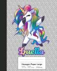 Hexagon Paper Large: LUELLA Unicorn Rainbow Notebook Cover Image