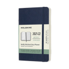 Moleskine 2021-2022 Weekly Planner, 18M, Pocket, Sapphire Blue, Soft Cover (3.5 x 5.5) Cover Image