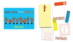 Wacky Waving Inflatable Tube Guy Sticky Notes: 488 Notes to Stick and Share Cover Image