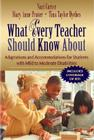 What Every Teacher Should Know about Making Accommodations and Adaptations for Students with Mild to Moderate Disabilities (What Every Teacher Should Know about (Pearson)) Cover Image