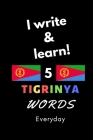 Notebook: I write and learn! 5 Tigrinya words everyday, 6