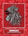 Libri da colorare per adulti - Disegni animali alleviare lo stress - Animale Cover Image