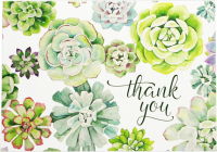 Succulent Garden Thank You Notes Cover Image