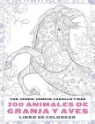 200 animales de granja y aves - Libro de colorear - Yak, cerdo, conejo, caballo y más Cover Image