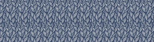 You-Nique Navy Feather Straight Borders Cover Image