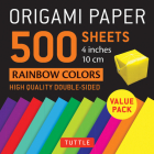 Origami Paper 500 Sheets Rainbow Colors 4 (10 CM): Tuttle Origami Paper: High-Quality Double-Sided Origami Sheets Printed with 12 Different Color Comb Cover Image