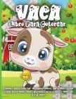Vaca Libro Para Colorear: Un libro de colorear para niños de 4 a 8 años con ilustraciones para colorear, hacer garabatos y aprender! Cover Image