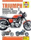 Triumph Bonneville, T100, Speedmaster, America, Thruxton & Scrambler '01 to '15 (Haynes Service & Repair Manual) Cover Image