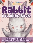 Rabbit Coloring Book! Discover This Unique Collection Of Coloring Pages Cover Image
