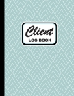 Client Log Book: Personal Client Log Book Including Address Details, Appointment and More Geometric Aquamarine Cover (Vol. #12) Cover Image