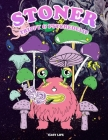 STONER - Trippy & Psychedelic: coloring books for adults, pages with stress relieving and relaxing designs! Cover Image