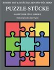 Malbücher für 2-Jährige (Puzzle-Stücke): Dieses Buch enthält 40 farbige Seiten mit extra dicken Linien, mit denen die Frustration verringert und das S Cover Image