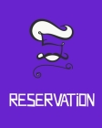 Reservation: 20 reservation entry slots and 6 columns; Time, Number of Guests, Name, Phone, table number , and comments.8X10 .120 P Cover Image