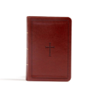 CSB Large Print Compact Reference Bible, Brown LeatherTouch, Indexed Cover Image