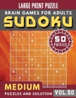 Sudoku Medium: suduko for adults - 50 Sudoku medium difficulty Puzzles and Solutions For Beginners Large Print (Sudoku Brain Games Pu Cover Image