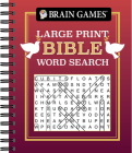 Brain Games - Large Print Bible Word Search (Red) Cover Image