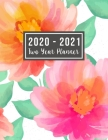 2020-2021 Two Year Planner: 2020-2021 monthly planner full size - Flower Watercolor Cover - 2 Year Calendar 2020-2021 Monthly - 24 Months Agenda P Cover Image