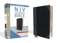 NIV, Thinline Bible, Large Print, Imitation Leather, Black/Gray, Red Letter Edition Cover Image