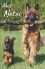 Mes notes: Carnet de Notes Chiot, Chien - Format 15,24 x 22.86 cm, 100 Pages - Tendance et Original - Pratique pour noter des Idé Cover Image