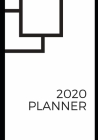 2020: Black and white graphic minimalist designed weekly planner Cover Image