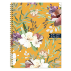 Cal 2021- Golden Flowers Academic Year Planner Cover Image