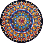 Magical Mandala 1000 Piece Round Jigsaw Puzzle Cover Image