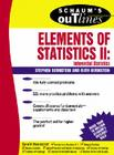 Schaum's Outline of Elements of Statistics II: Inferential Statistics (Schaum's Outlines) Cover Image
