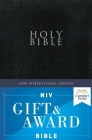 Niv, Gift and Award Bible, Leather-Look, Black, Red Letter Edition, Comfort Print Cover Image