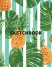 Sketchbook: Pineapple vintage fruits cover, Extra large (8.5 x 11) inches, 110 pages, White paper, Sketch, Draw and Paint Cover Image