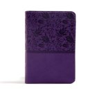 CSB Large Print Compact Reference Bible, Purple LeatherTouch Cover Image