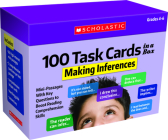 100 Task Cards in a Box: Making Inferences: Mini-Passages With Key Questions to Boost Reading Comprehension Skills Cover Image