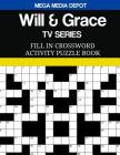 Will & Grace TV Series Fill In Crossword Activity Puzzle Book Cover Image
