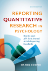 Reporting Quantitative Research in Psychology: How to Meet APA Style Journal Article Reporting Standards Cover Image