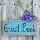 Guest Book: Sign In Visitor Log Book For Vacation Home, Rental House, Airbnb, Bed And Breakfast Memory Book, Lake Home Rental Logb Cover Image