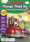 Things That Go Wipe-Clean Activity Book Cover Image
