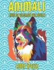 Libri da colorare per adulti - Linee spesse - Animali Cover Image