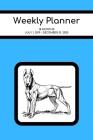 Weekly Planner: Bull Terrier; 18 months; July 1, 2019 - December 31, 2020; 6