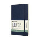 Moleskine 2021-2022 Weekly Planner, 18M, Large, Sapphire Blue, Soft Cover (5 x 8.25) Cover Image