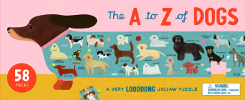 The A to Z of Dogs 58 Piece Puzzle: A Very Looooong Jigsaw Puzzle (Magma for Laurence King) Cover Image