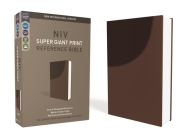 NIV, Super Giant Print Reference Bible, Imitation Leather, Brown, Red Letter Edition Cover Image